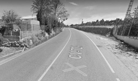 Un gos provoca un accident múltiple sense ferits greus en la carretera de Pedreguer a la Xara
