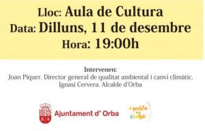 Xarrada sobre gestió de residus per Joan Piquer i Ignasi Cervera -Orba- @ Aula de Cultura