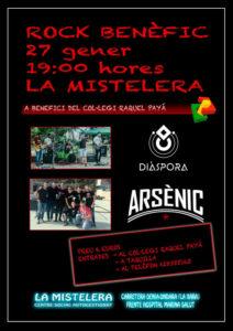 Concert benèfic de rock pels grups de Diàspora i Arsènic -La Xara- @ CSA La Mistelera, La Xara