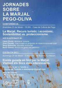 'Jornades sobre la Marjal Pego-Oliva': Eixida guiada en bici per la Marjal -Pego- @ Punt de trobada: pas del Bullent, Marjal de Pego