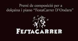 """Presentació del II Premi de Composició per a dolçaina i piano """"Festacarrer"""" i concert de Josep Alemany i David González -Ondara- @ Casa de Cultura, Ondara"""
