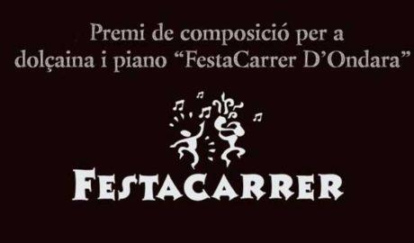 """Presentació del II Premi de Composició per a dolçaina i piano """"Festacarrer"""" i concert de Josep Alemany i David González -Ondara-"""