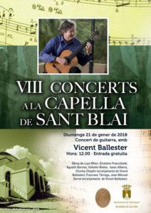 Concert de guitarra per Vicent Ballester. Cicle 'Concerts a la Capella'0 -Pedreguer- @ Capella de Sant Blai, Pedreguer