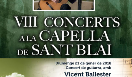 Concert de guitarra per Vicent Ballester. Cicle 'Concerts a la Capella'0 -Pedreguer-