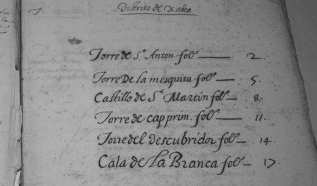 Rescatan un documento inédito de 1629 sobre las labores de vigía en las torres de Xàbia