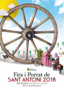 Fira i Porrat De Sant Antoni 2018: Mercat Medieval i Mercat Exposició de Vehicles i Maquinària -Benissa- @ Benissa