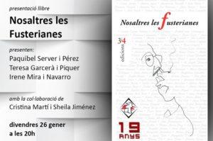 Presentació del llibre 'Nosaltres les Fusterianes' -Pedreguer- @ Casal Cultural Jaume I de Pedreguer