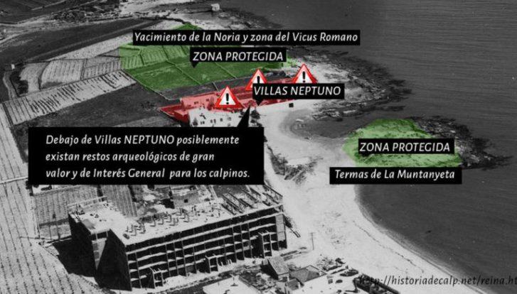 Investigaciones recientes apuntan a la existencia de una villa romana bajo las Casas Neptuno derribadas en Calp