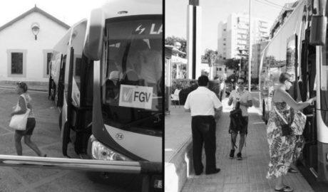Casi nadie paga en el bus del TRAM Dénia-Calp, que le ha costado al Consell 1,5 millones