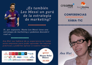 Conferencia de marketing: '¿Es también Leo Messi un gurú de la estrategia de Marketing?' por Ana Blat -Xàbia- @ Museu Arqueològic i Etnogràfic Soler Blasco de Xàbia