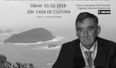 El experto José Ignacio Gafo desvelará en Xàbia los efectos del cambio climático en la Marina Alta