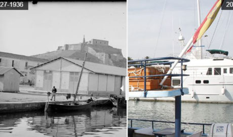 El cambio radical de la fachada portuaria de Dénia en 90 años