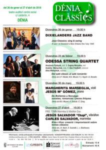 Concierto de Odessa String Quartet & la soprano Alina Melnychu. Festival Dénia Clàssics -Dénia- @ Teatre Auditori del Centre Social, Dénia
