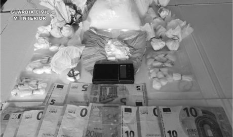 La Guàrdia Civil deté un home a Xàbia després d'intervindre-li 697 grams de cocaïna