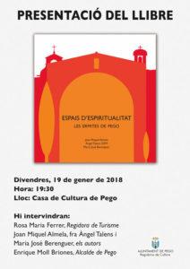 Presentació del llibre 'Espais espirituals. Les ermites de Pego' de J.M Almela, fra Àngel Talens i M.J. Berenguer -Pego- @ Casa de Cultura de Pego