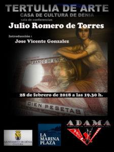 Tertulia de Arte: 'Julio Romero de Torres' organizada por ADAMA -Dénia- @ Casa de Cultura de Dénia