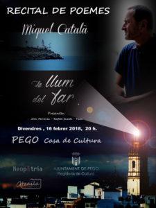 Recital de poesia: 'La llum del far' de Miquel Català -Pego- @ Casa de Cultura de Pego