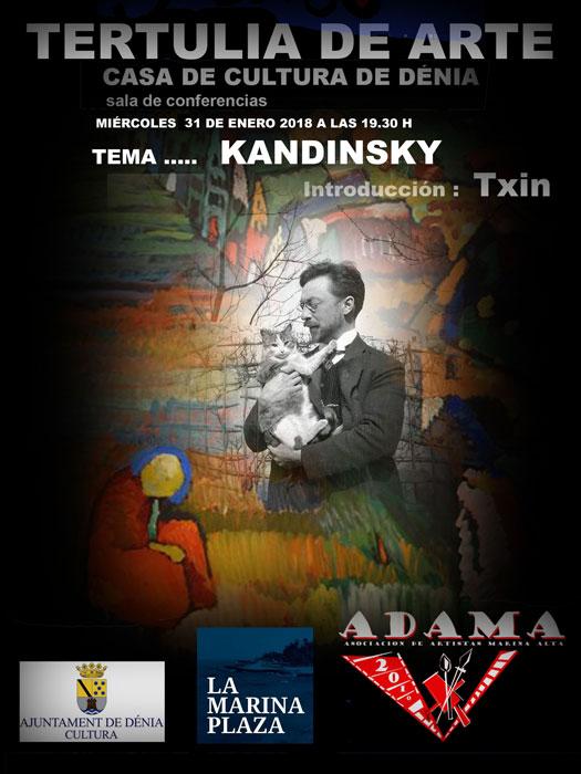 Tertulia de Arte: 'Kandinsky' organizada por ADAMA -Dénia- @ Casa de Cultura de Dénia
