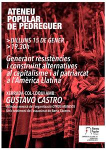 Xerrada col·loqui de Gustavo Castro, defensor de Drets Humans mexicà -Pedreguer- @ Ateneu Popular de Pedreguer, carrer de la Lluna 47