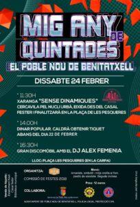 Festes: Mig Any de Quintades -Benitatxell- @ El Poble Nou de Benitatxell