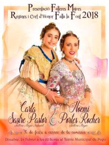 Presentació de les Falleres Majors de la Falla La Font -Pego- @ Teatre Municipal de Pego