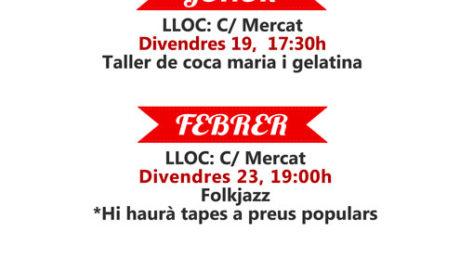 'La Festa del Comerç': actuació de Folkjazz i tapes a preus populars al Mercat -Benitatxell-