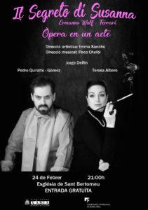 Ópera: 'Il segreto di Susanna' con Tearesa Albero, Pedro Quiralte y Paco Cholbi -Xàbia- @ Iglesia de San Bartolomé, Xàbia