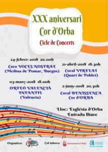 Concierto del Coro Voces Nostrae de Burgos. XXX Aniversario del Cor d'Orba -Orba- @ Iglesia de Orba