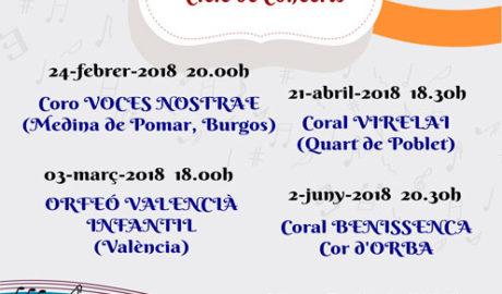 Concierto del Coro Voces Nostrae de Burgos. XXX Aniversario del Cor d'Orba -Orba-
