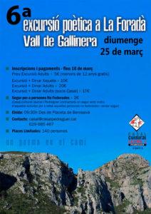 VI Excursió Poètica a la Foradà -Pedreguer- @ Eixida des de la Placeta de Benissivà, Pedreguer
