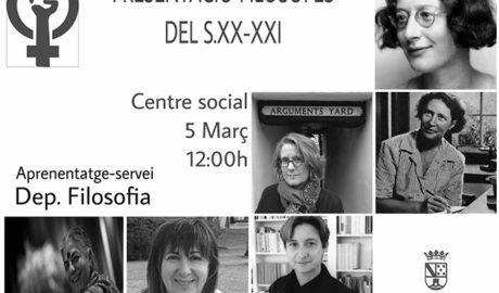 Feminisme i Filosofia per apropar a l'alumnat de Dénia les pensadores oblidades de la història