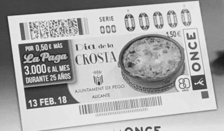 La Crosta de Pego arriba a tota Espanya gràcies al cupó de l'ONCE