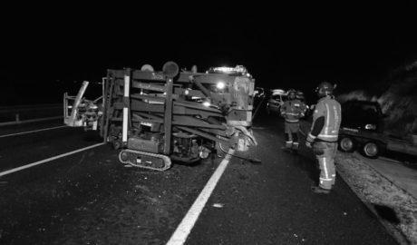 Otro accidente más con un herido grave en la N-332 al volcar un coche en Ondara