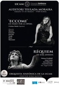 Concierto de la Orquesta Sinfónica UCAM, la soprano Cristina Toledo y la Coral Discantus -Teulada- @ Auditori Teulada Moraira | Teulada | Comunidad Valenciana | España