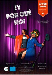 Espectáculo de teatro y danza a beneficio de Ludai: '¿Y por qué no? -Dénia- @ Teatre Auditori del Centre Social, Dénia