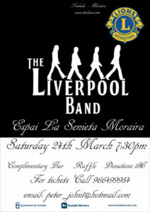 "Concierto: The Liverpool Band -Moraira- @ Edificio ""Espai la Senieta"" Moraira"