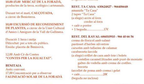 Alineació Solar de la Foradà: espectacle natural i activitats gastronòmiques, infantils, excursions... -Vall de Gallinera-