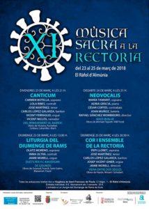 Concierto: 'Del Renacimiento al Barroco' por Canticum. XI Música Sacra a la Rectoria -El Ràfol- @ Iglesia del Ràfol d'Almúnia