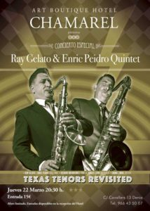 Jazz: concierto 'Texas Tenors Revisited' por Ray Gelato & Enric Peidro Quintet -Dénia- @ Hotel Chamarel | Dénia | Comunidad Valenciana | España