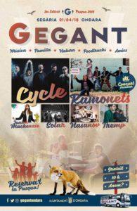 III Gegant: festival diurno de música pop rock, actividades infantiles, gastronomía, senderismo -Ondara- @ Campo de Tiro de Segària, Ondara