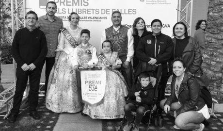 La Falla Oeste recoge en València el premio a su llibret