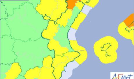 La Marina Alta, en alerta amarilla por fuertes vientos