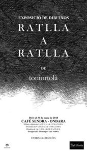 Exposició: Ratlla a ratlla de Toni Ortolà Martí -Ondara- @ Café Sendra, Ondara